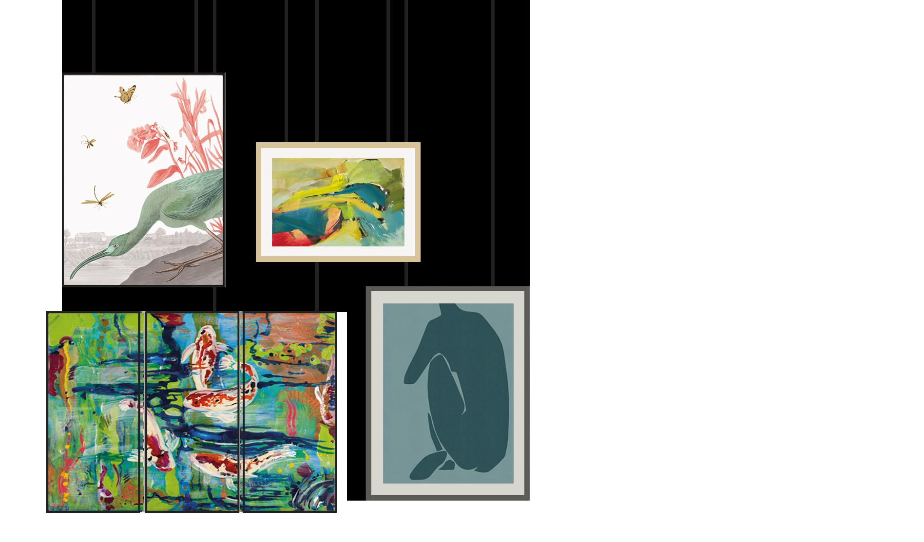 Hanging contemporary artwork